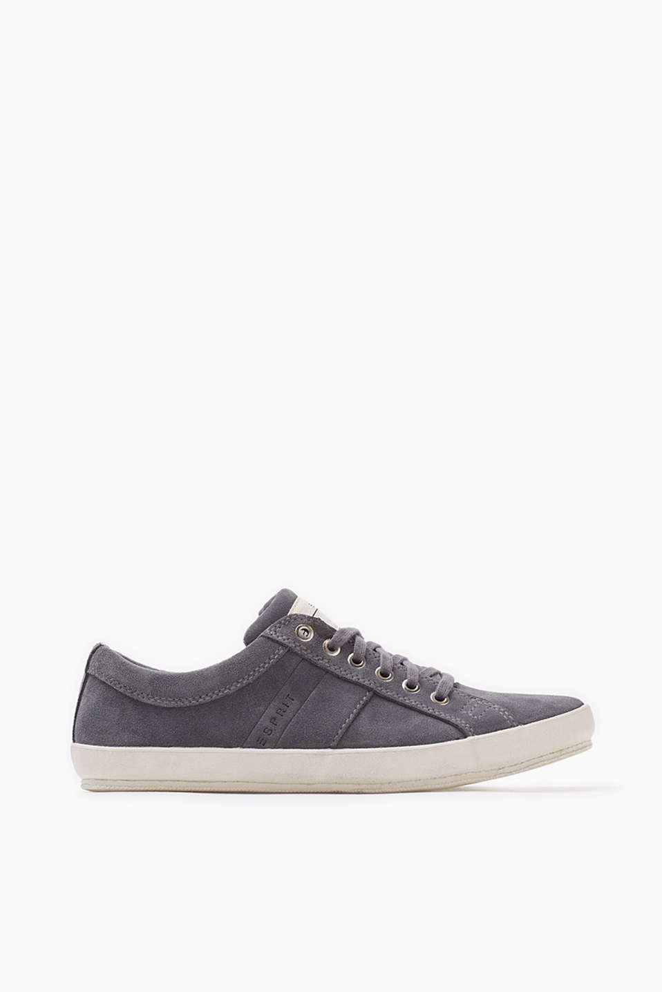 A trainer basic: soft suede lace-up trainers