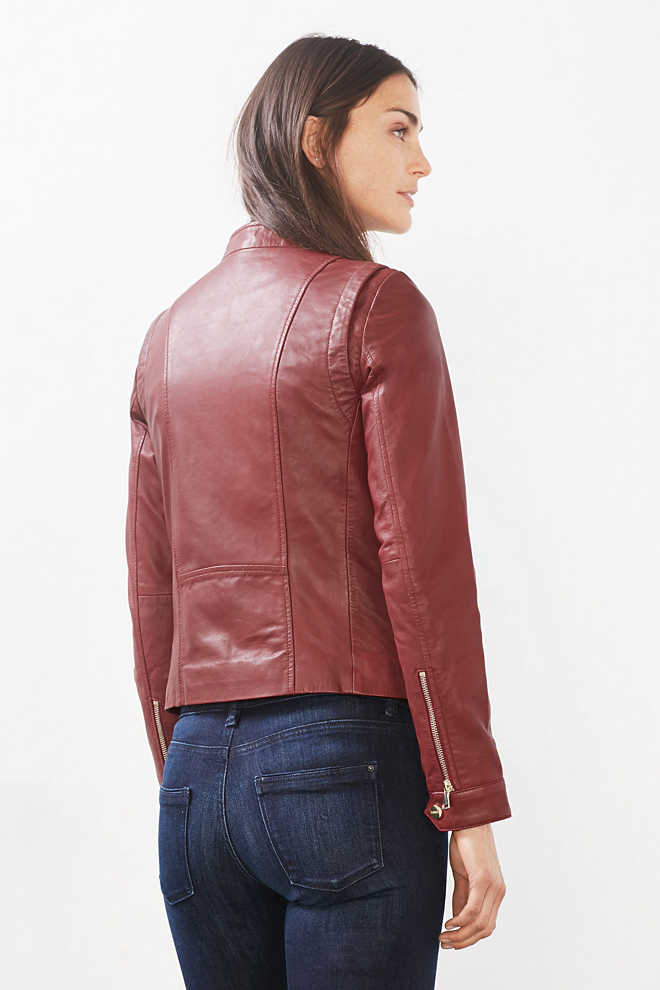 Esprit / Coloured biker style leather jacket