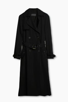 Trench coat in flowing fabric