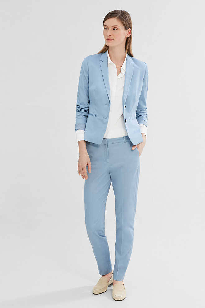 Esprit / Blazer sciancrato stretch in raso