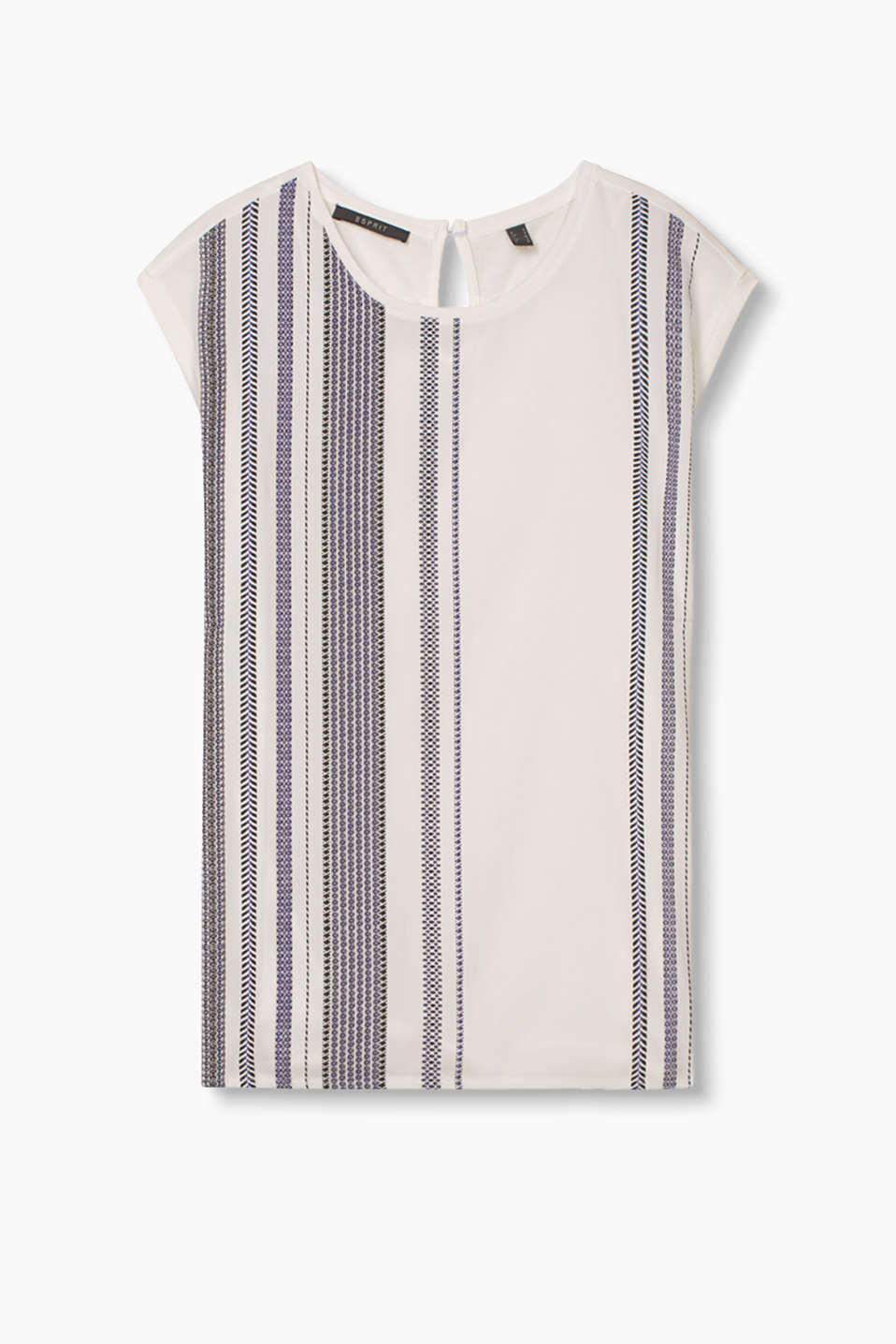 with an innovative striped print