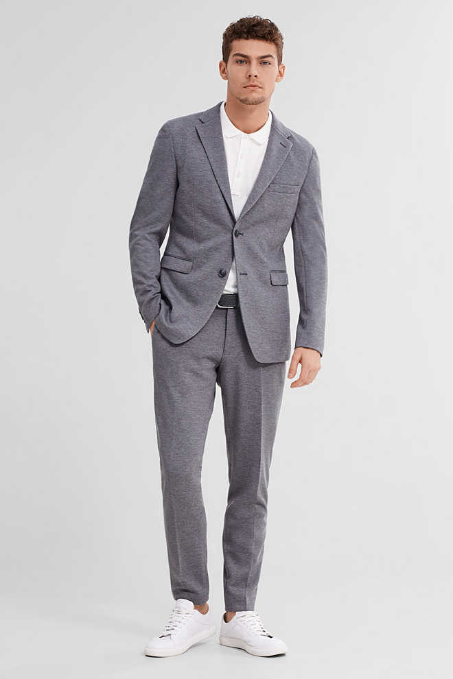 Esprit / ACTIVE SUIT - skrynkelfri stretchbyxa