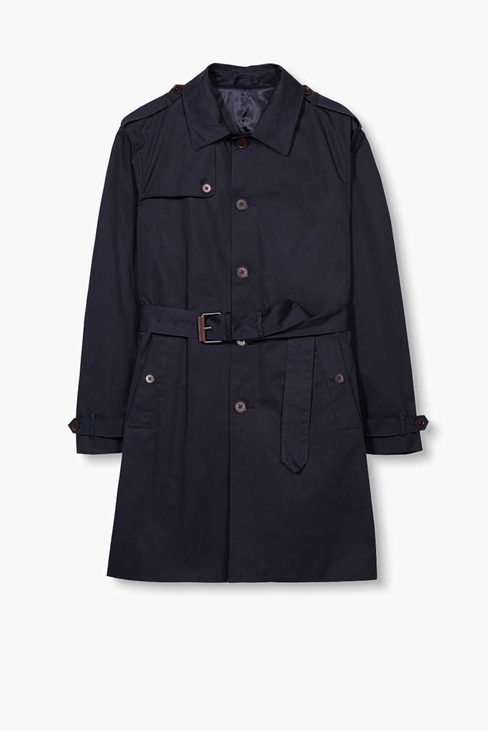 """The wardrobe"": classic trench coat in high-quality cotton"