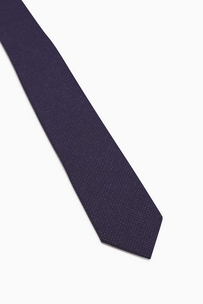 Esprit / Cotton tie with a fine print