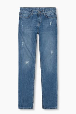 Distressed jeans in 100% cotton