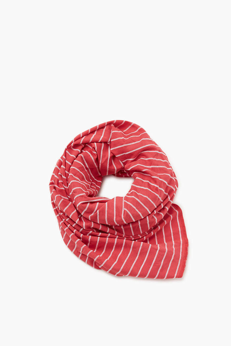 Striped scarf made of pure cotton