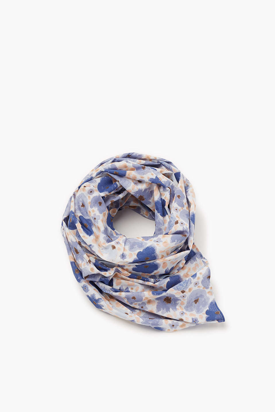 XL scarf with an abstract floral print