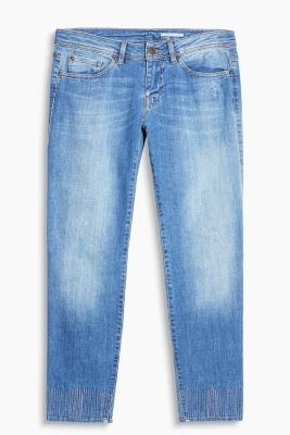 Ankle-Stretch-Jeans mit Stitchings