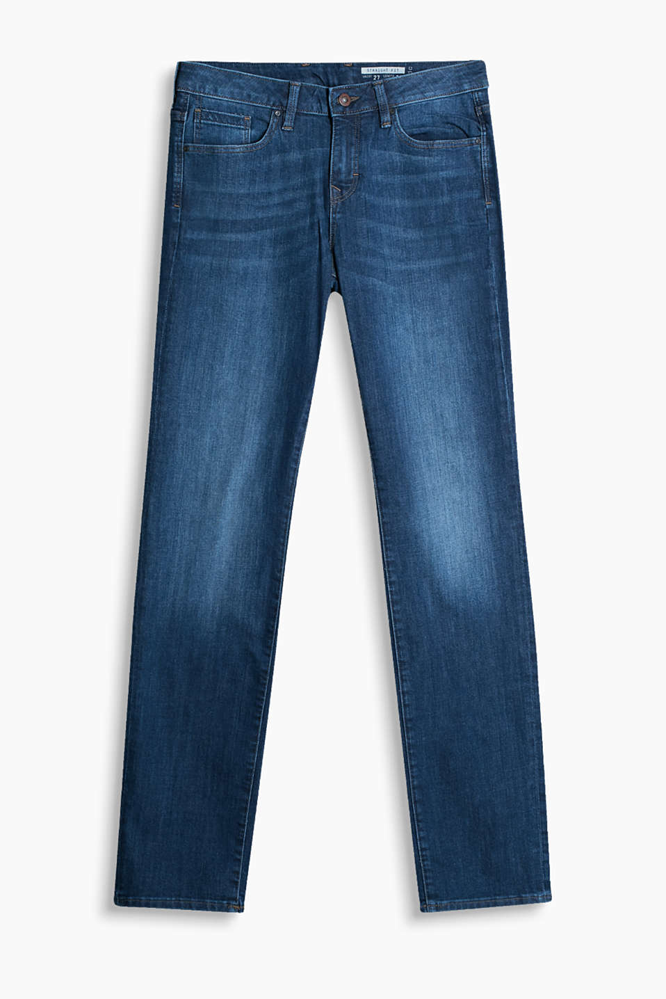 Comfy stretch jeans with a washed finish