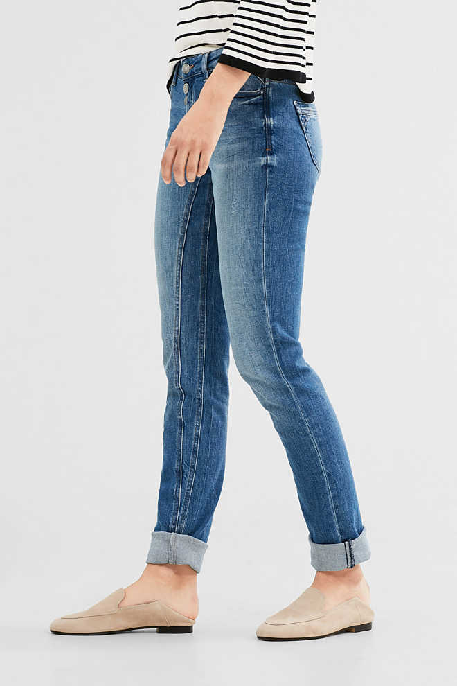 EDC / Stretch jeans with a button fly