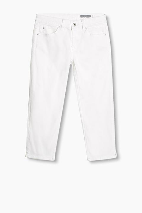 Pantalón capri vaquero blanco