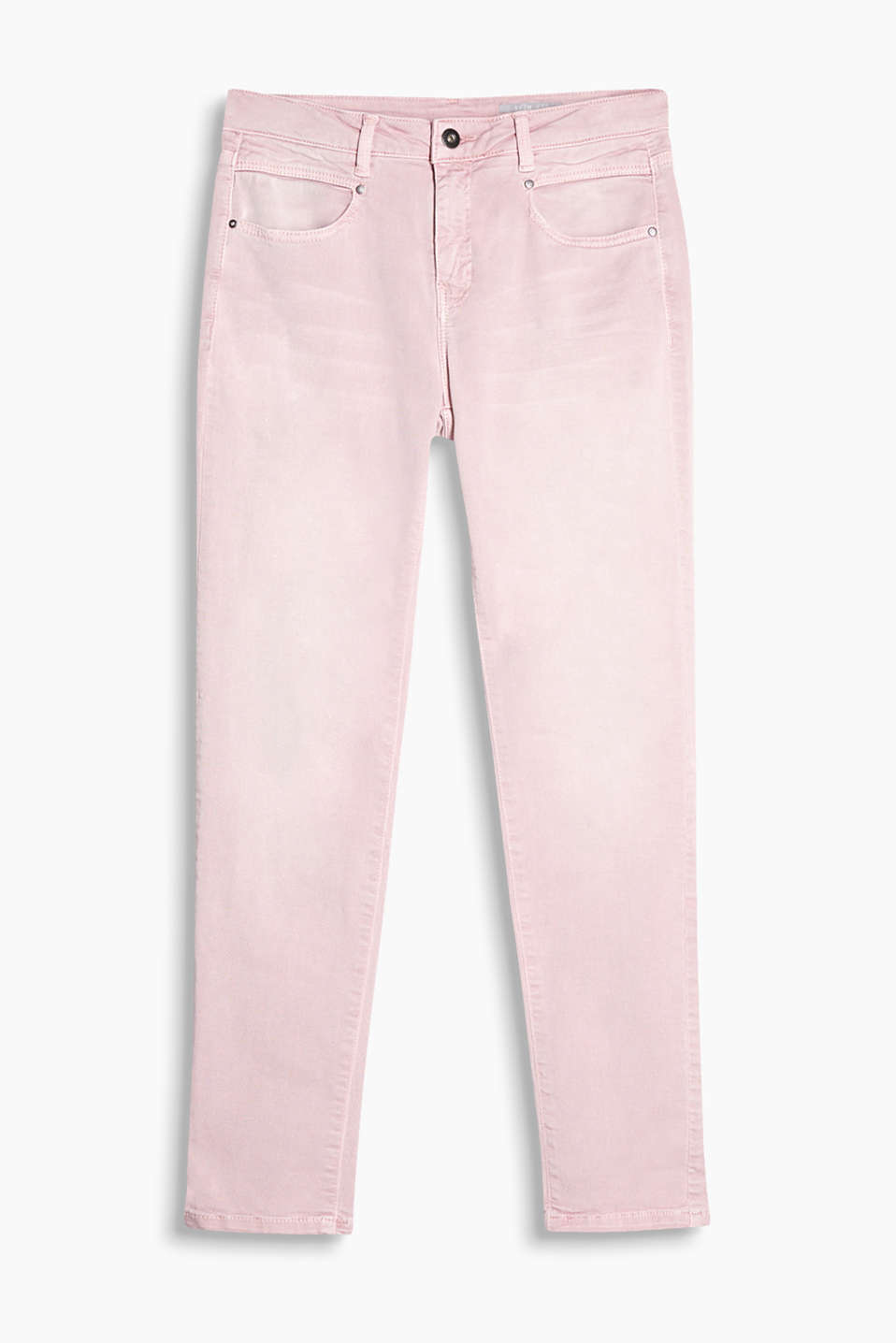 Light, trendily dyed stretch jeans with a vintage finish and modern pockets