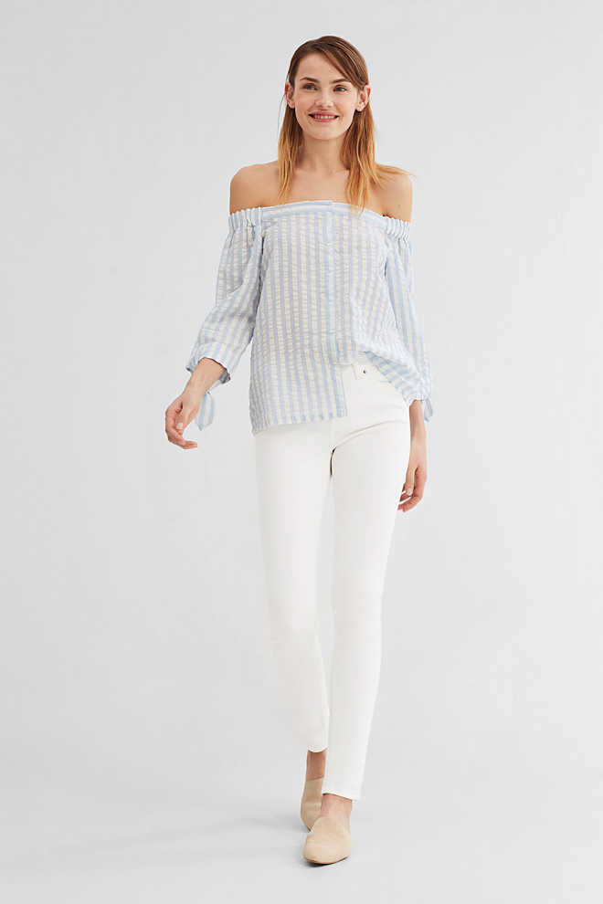 EDC / Off-Shoulder-Bluse aus Baumwolle