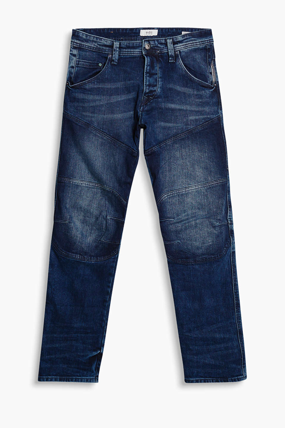 Jeans in a classic five-pocket style with stylish garment-washed effects