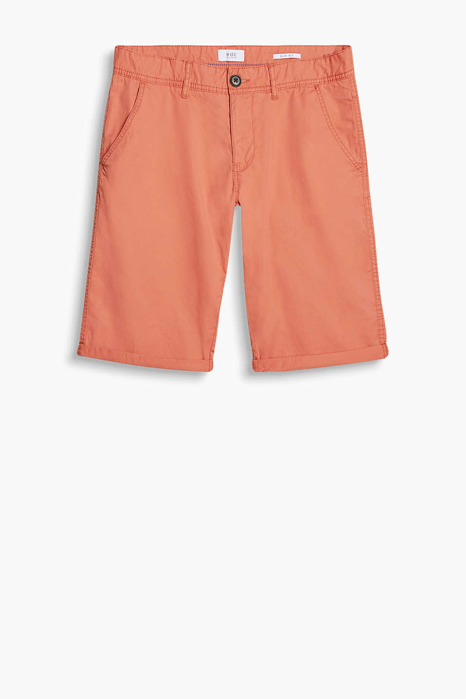 Chino shorts with a garment-washed finish, in 100% cotton