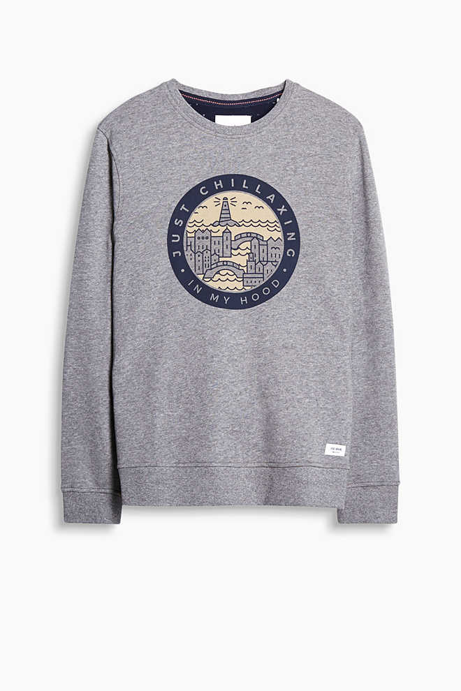 EDC / Sweatshirt mit Statement-Print