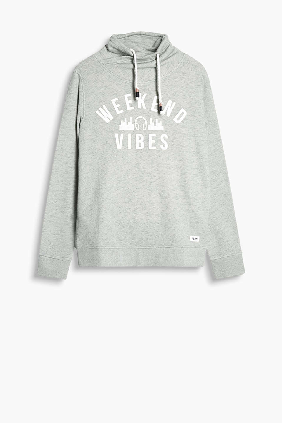 Sweatshirt with casual appeal in soft blended cotton