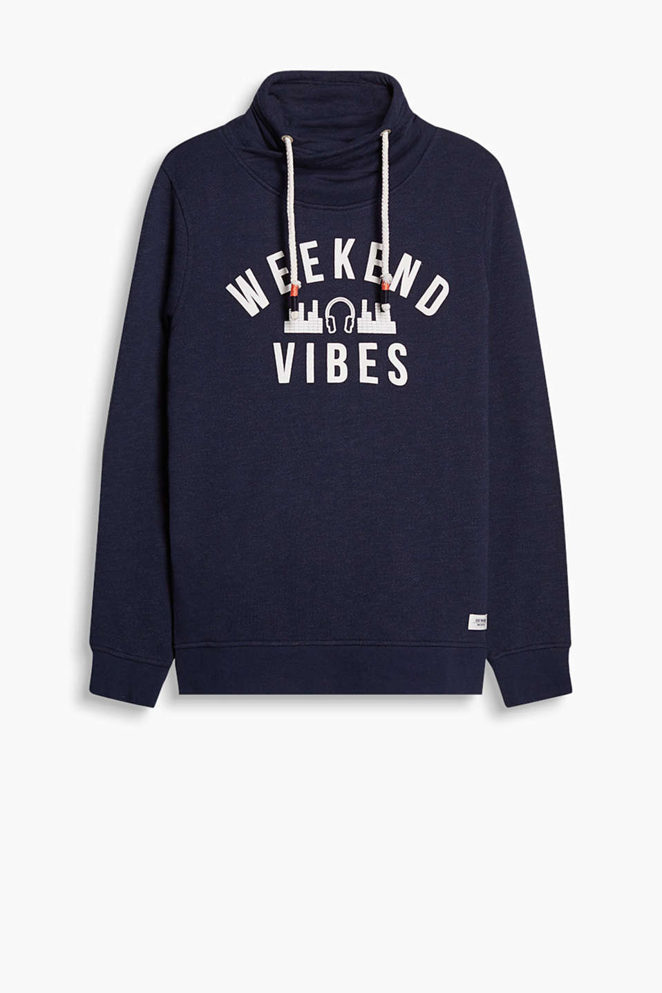 Sweatshirt with casual appeal, in blended cotton