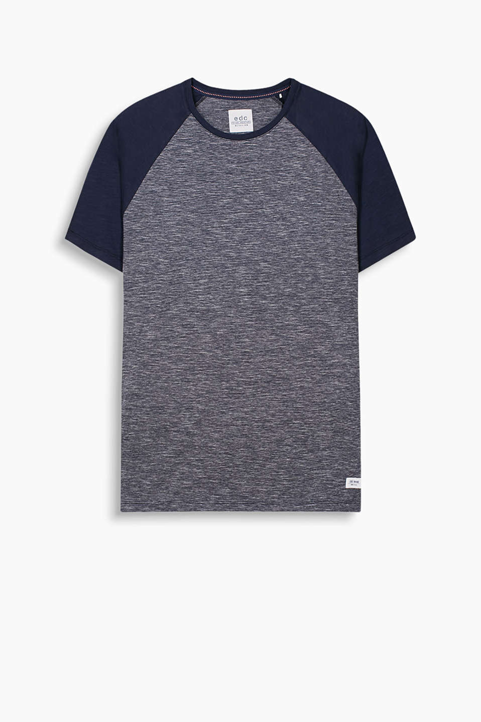 100% cotton T-shirt with raglan sleeves