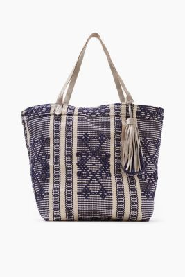 Reversible cotton canvas shopper