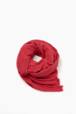 Crinkle scarf made of 100% cotton