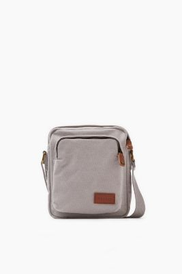 Small cotton canvas shoulder bag