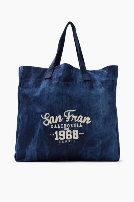 Canvas shopper in a washed-out look