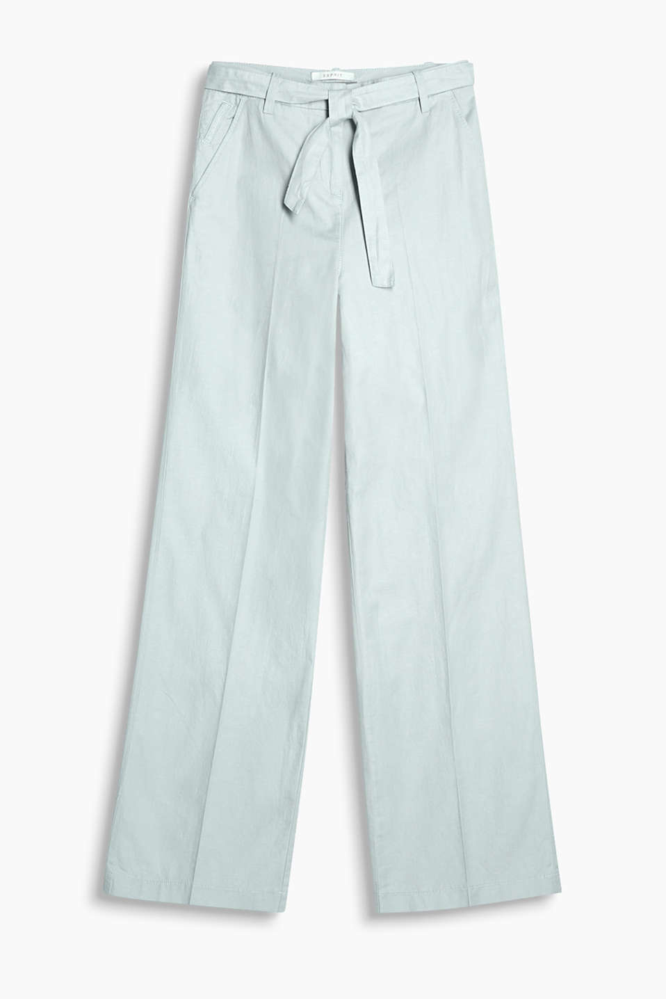 Trousers in a wide cut with a tie-around belt