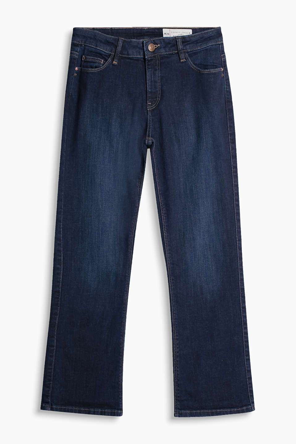 Kickflared-jeans med stretch, five-pocket-stil