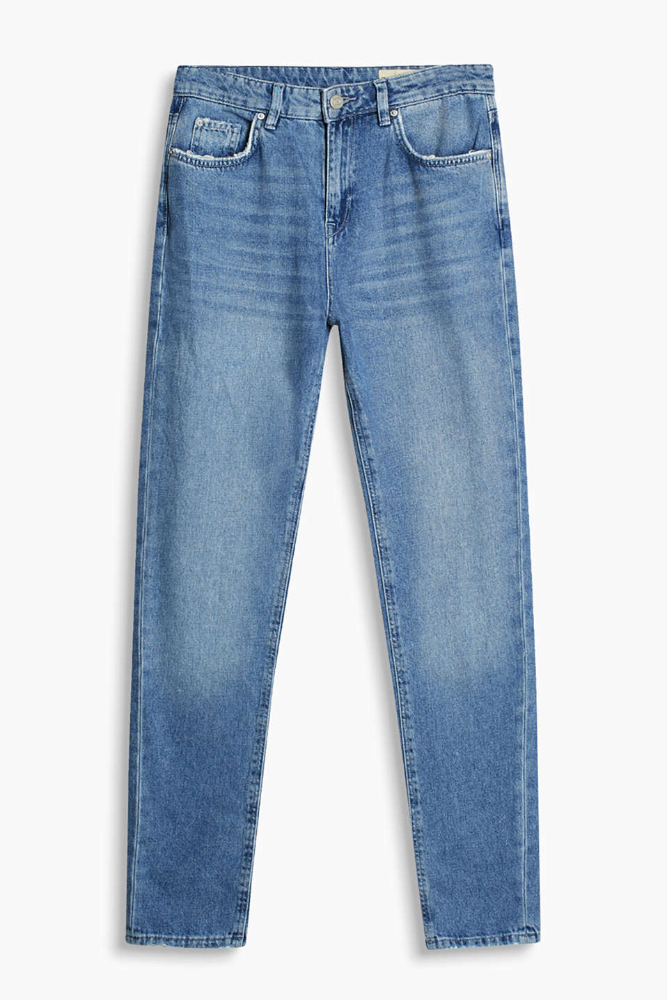 High-rise jeans with vintage effects