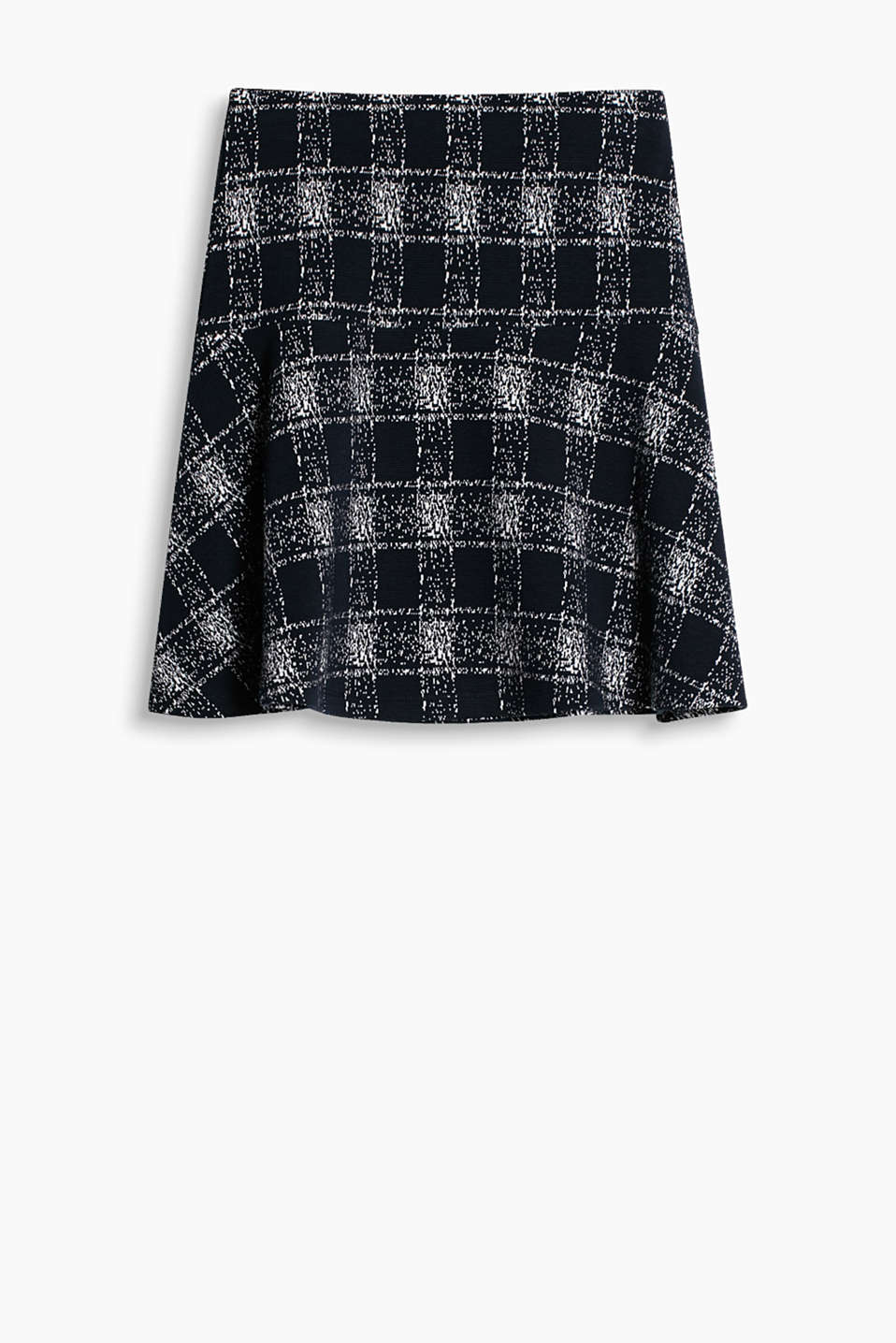 with a comfortable elasticated waistband and modern checks