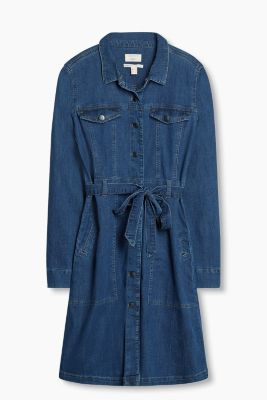 Hemdblusen-Kleid aus Stretch-Denim