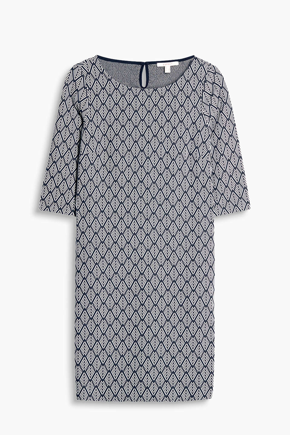 Fashionable jacquard dress made of thick stretch jersey
