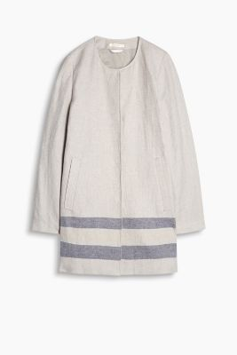 Lightweight coat in linen/cotton