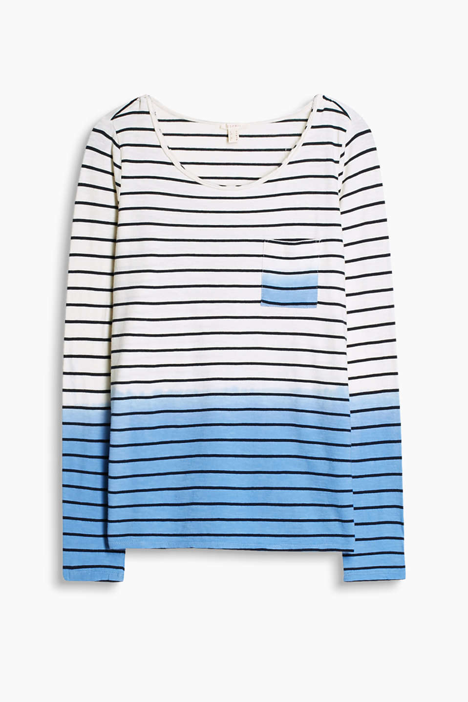 Top with a nautical striped pattern in a graduated colour look