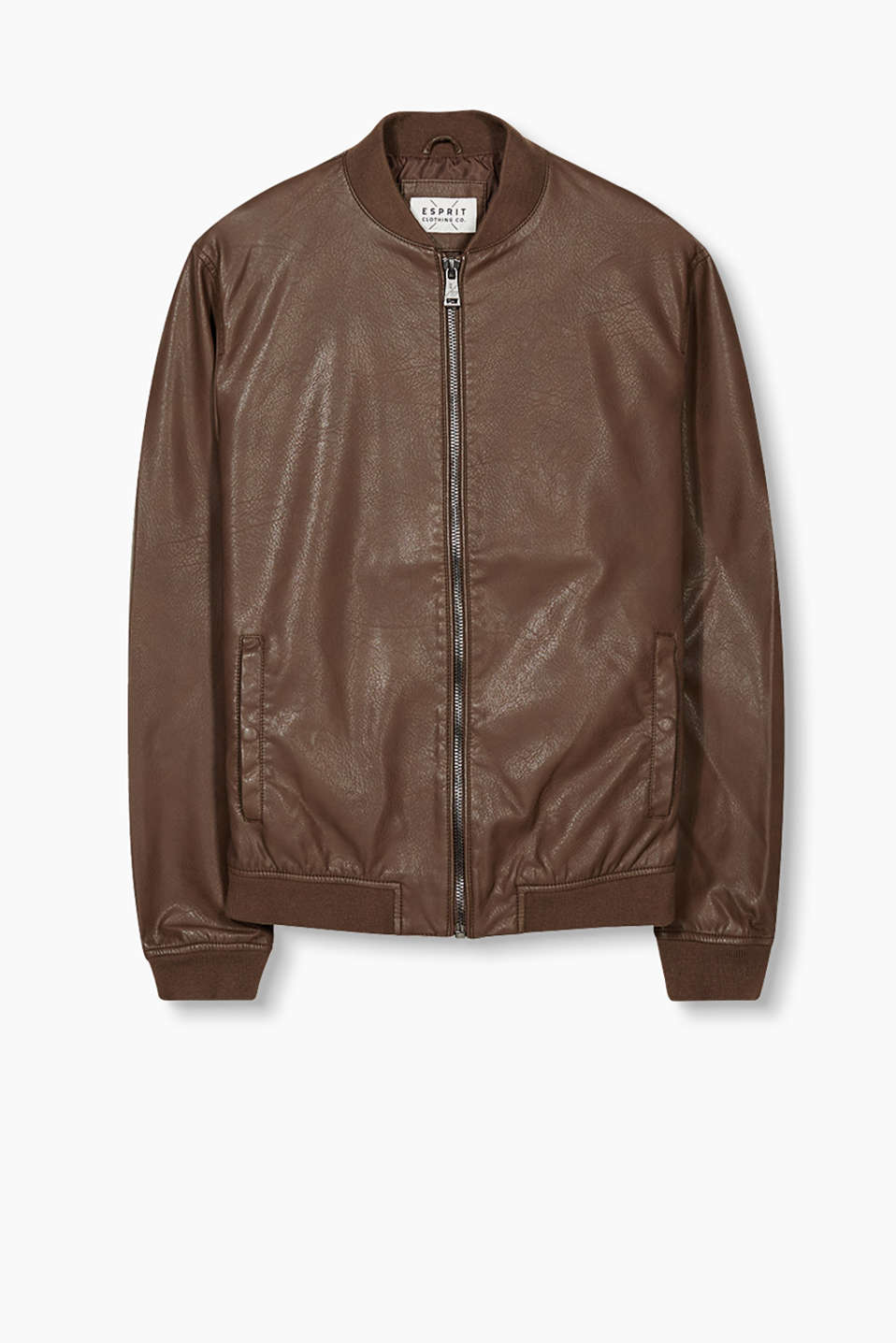 Bomber-style jacket with stretchy ribbed borders