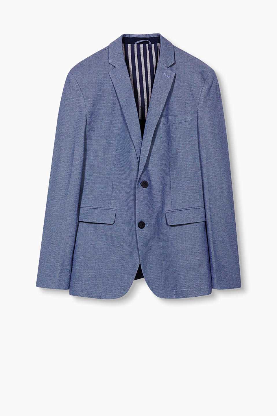 Smart/casual blazer with a two-tone texture