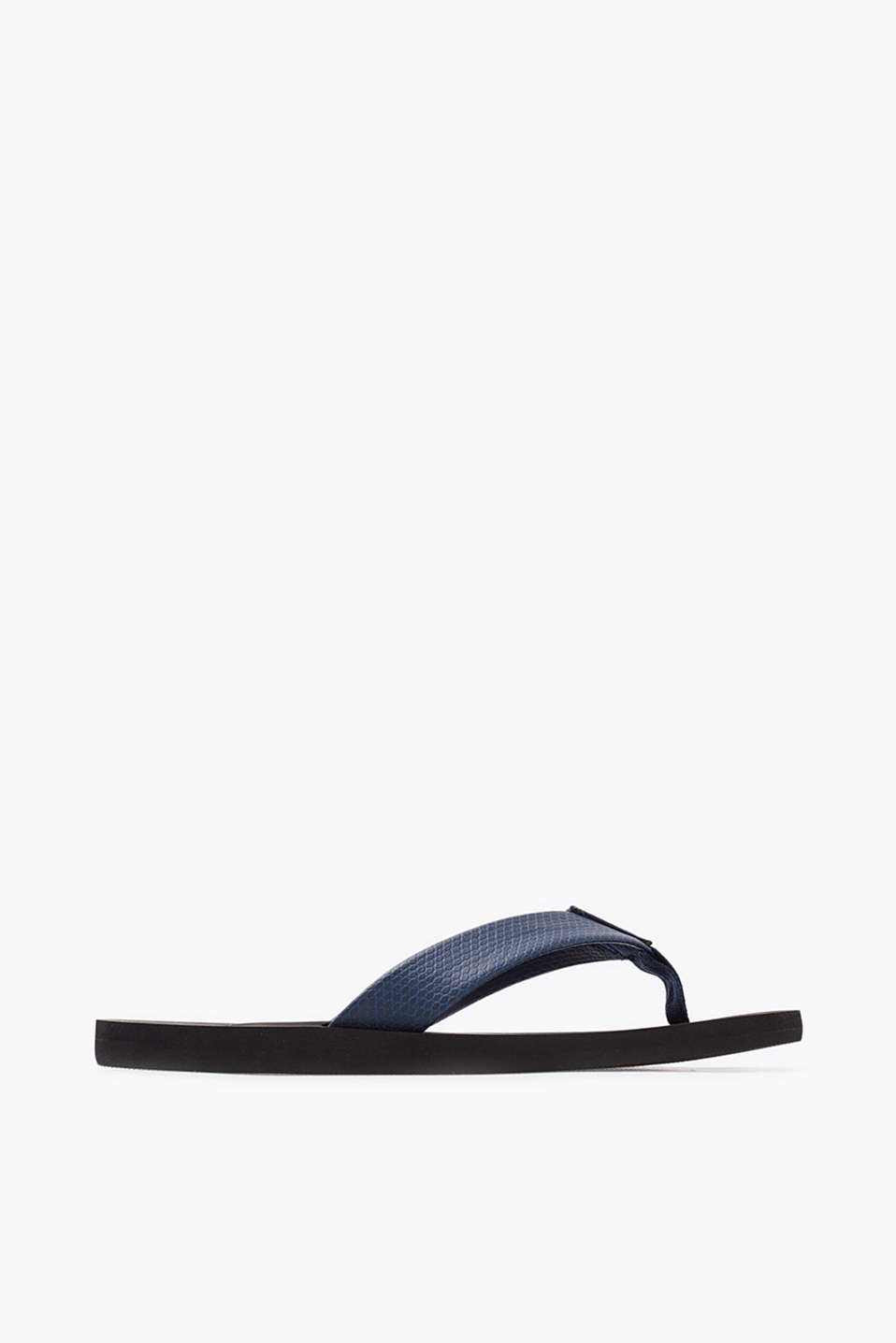 City thong sandals with reptile-look straps