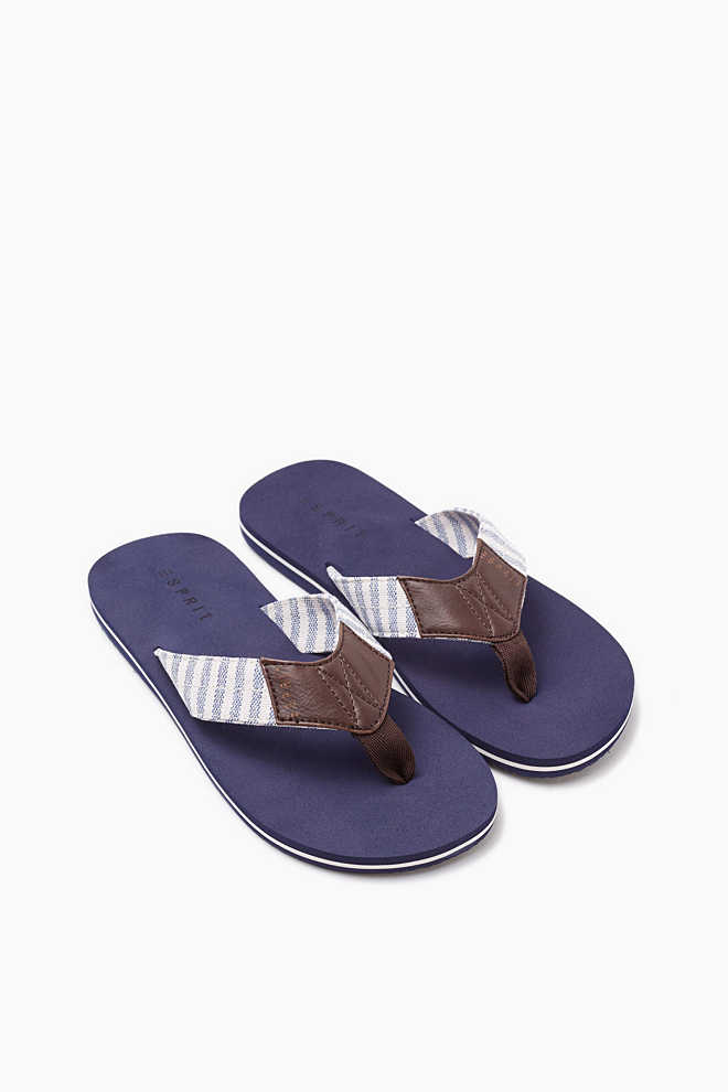 Esprit / Thong sandals with canvas straps