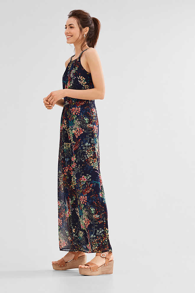 Esprit / Studded chiffon maxi dress