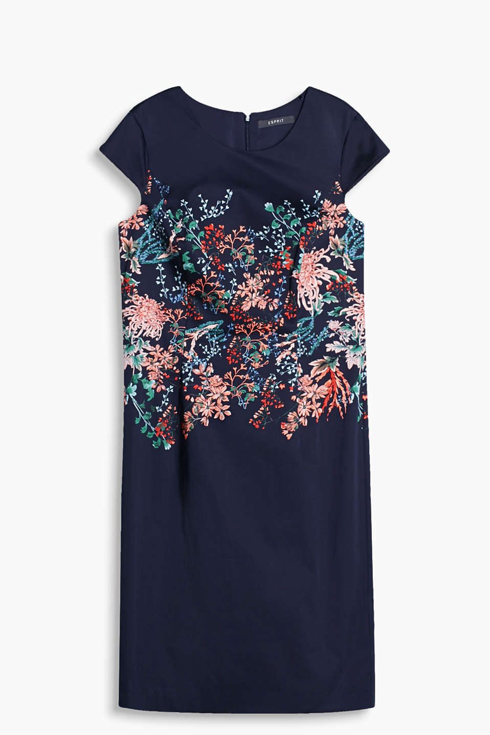 with a positioned floral print