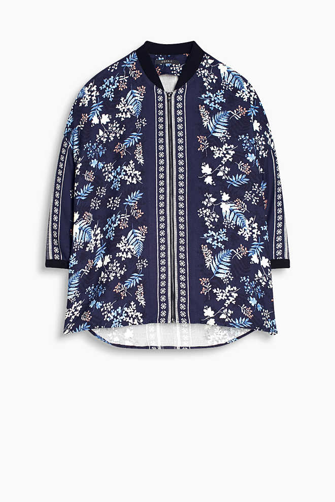 Esprit / Flowing blouse jacket in a bomber style