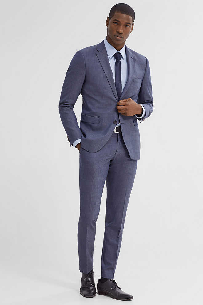 Esprit / ACTIVE SUIT - Knitterfreies Stretch-Sakko