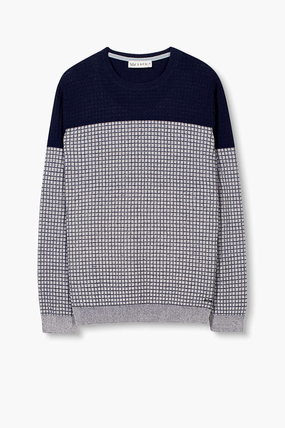 With a firm, glittery texture: 100% cotton jumper