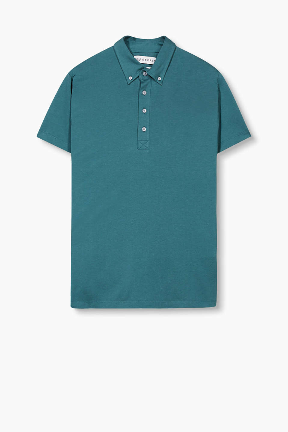 In 100% cotone: polo colletto button down.