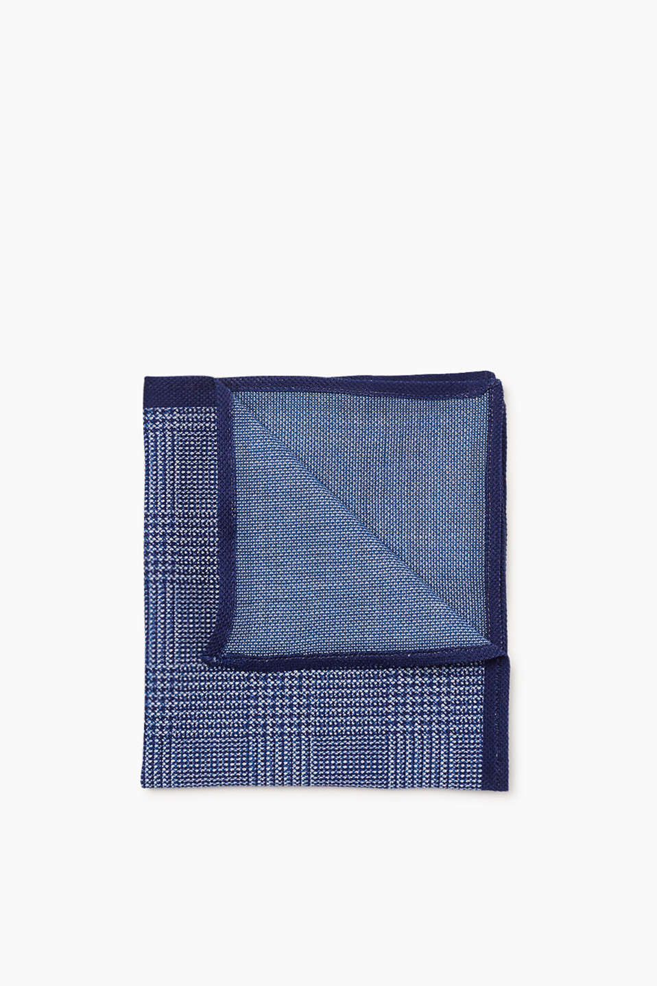 Pure cotton pocket square with a textured, glencheck pattern