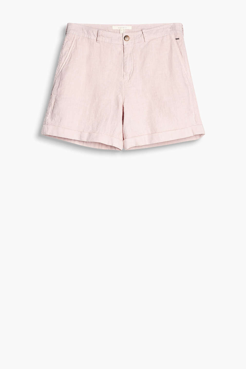 Our summer fave! Loose-cut shorts in airy, soft linen