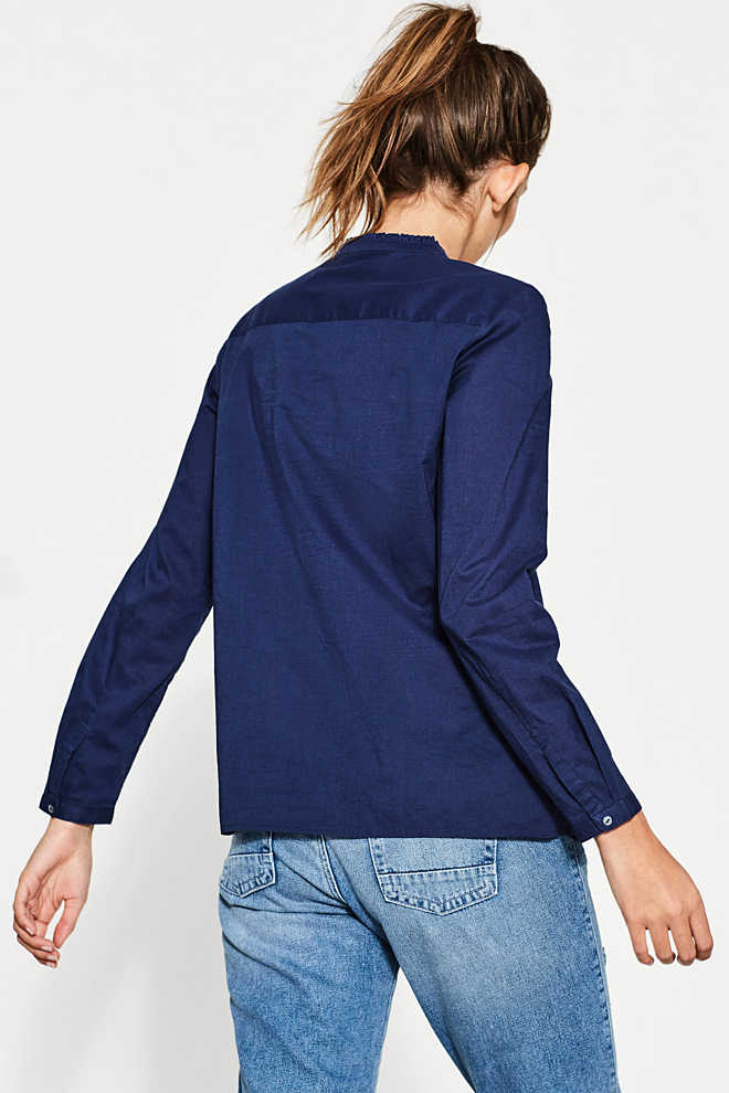 Esprit / Cotton blouse with frill details