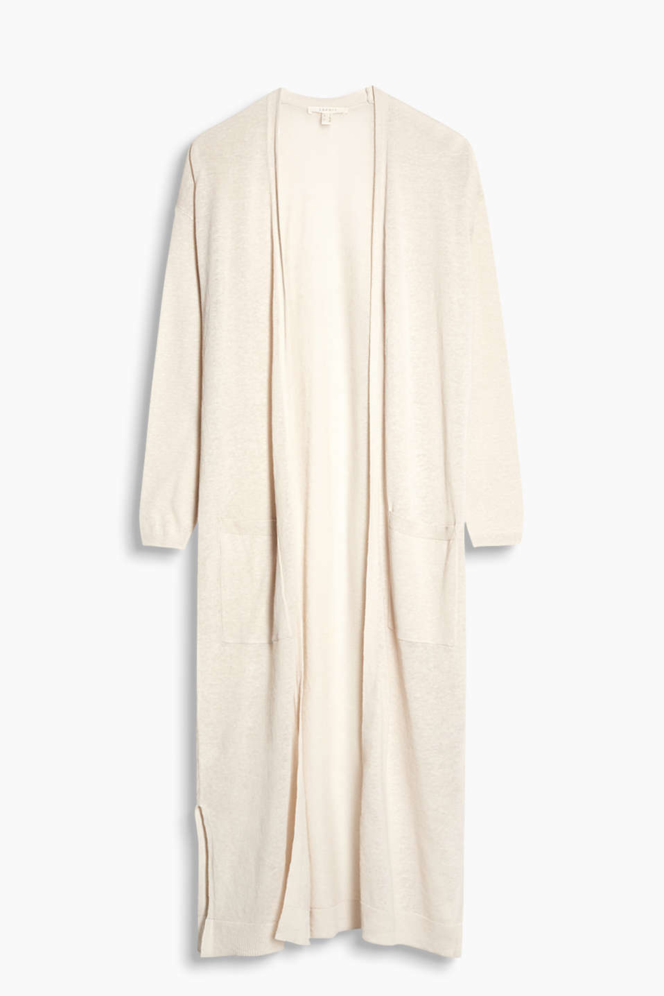 This long cardigan in extremely comfortable blended fabric is airy, lightweight and open-fronted