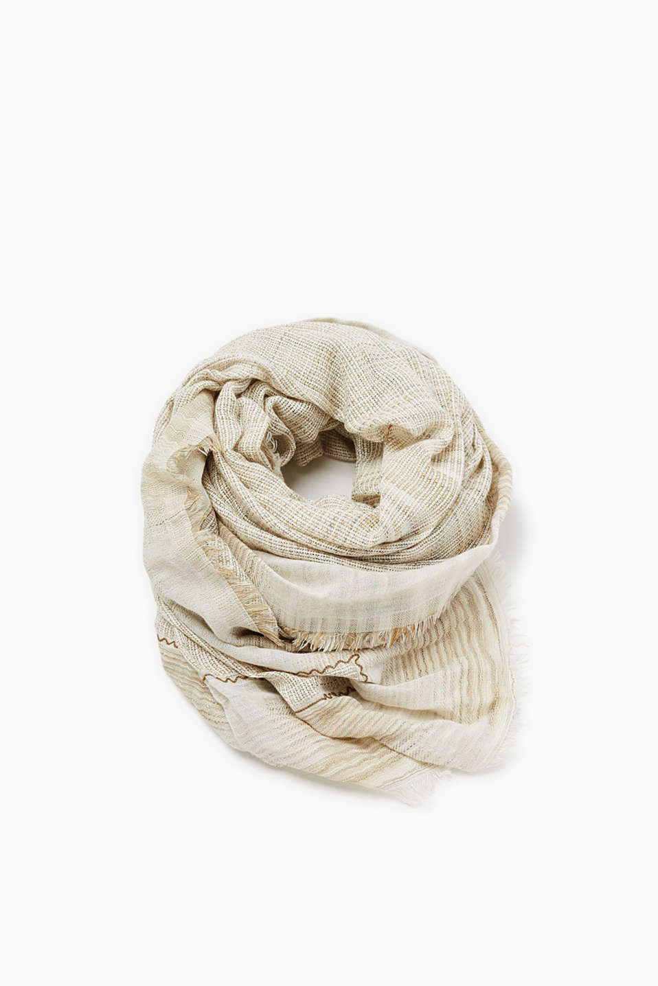 Scarf in soft blended cotton with a high-quality woven texture